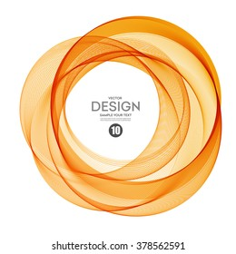 Abstract vector background color ring. Circle shape. Orange Circle lines.Orange circles. Transparent circle. Vector circle. Abstract wave circles. Circle frame. Circle abstract. Orange circle frame.