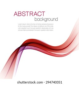 Abstract vector background with color waves
