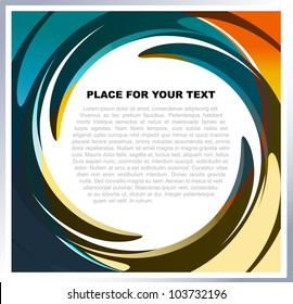 Abstract vector background with colorful swirl for text