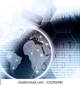 abstract vector background. Computer technology.