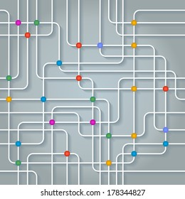 Abstract vector background. Concept of communication network.
