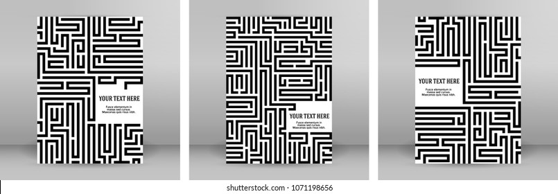 Abstract vector background design with maze mosaic texture. Good cover for book psychology, creative problem solving, logical thinking, study of human relations, technology, vector Illustration eps 10