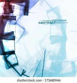 Abstract vector background, digital art illustration eps10.
