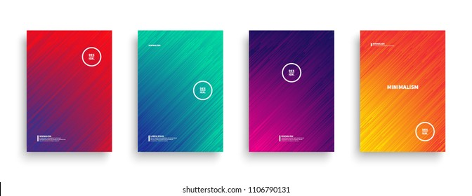 Abstract Vector Background. Dynamic Flow Lines with Vivid Colors Vector Minimalist Style Brochure, Cover, Flyer, Book Design Template. Contemporary Digital Glitch Art Conceptual Illustration