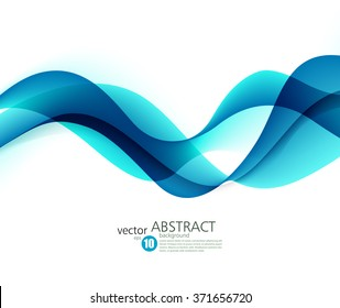 Abstract vector background, futuristic wavy illustration