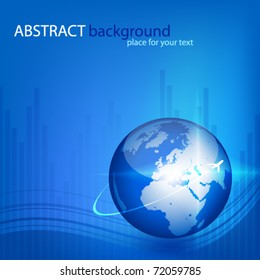 Abstract vector background with globe