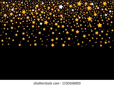 Abstract Vector background with gold stars.Ellustration EPS 10.