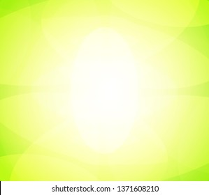 Abstract Vector background green color with bright glow. Illustration with mood of nature, spring and beautiful.