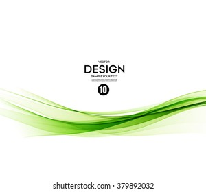 Abstract vector background, green waved lines for brochure, website, flyer design.  illustration eps10