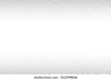 Abstract vector background. Halftone modern graphic template. Black and white Dotted texture.