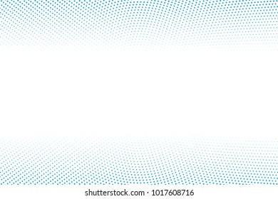 Abstract vector background. Halftone modern graphic template. Blue and white dotted texture.
