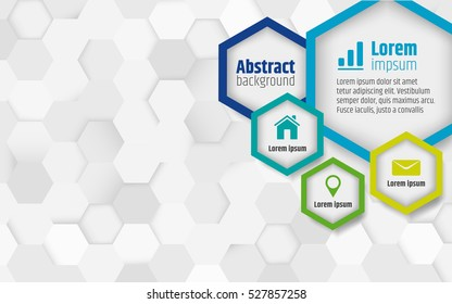 Abstract vector background with hexagonal
