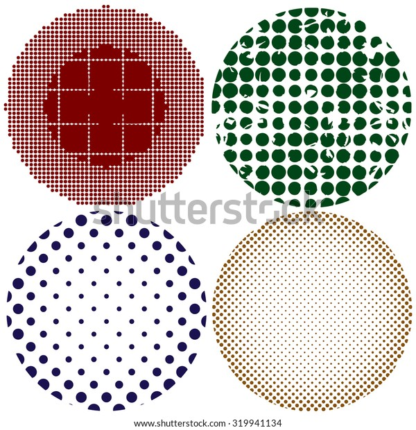 Abstract vector background illustrations Set. Colorful