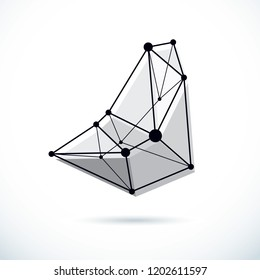 Abstract vector background, isometric dimensional shape. Innovation technologies abstract illustration.
