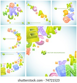 Abstract vector background with letters. Great collection.