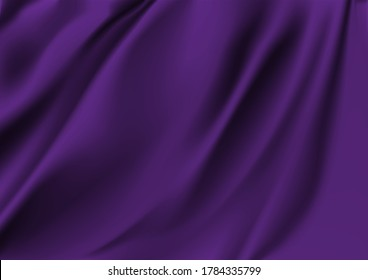 Abstract vector background luxury Purple cloth or liquid wave Abstract or Purple fabric texture background. Cloth soft wave. Creases of satin, silk, and cotton.