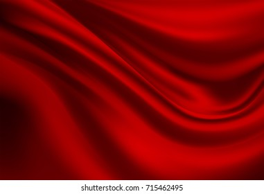 Abstract vector background luxury red cloth or liquid wave or wavy folds of grunge silk texture satin velvet material, luxurious background or elegant wallpaper
