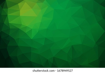 Abstract vector background made of triangles. Background color is green with yellow. Ecology, business template. Gradient pattern for decoration decoration. Conceptual background eps10