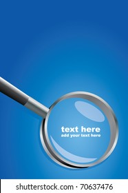 Abstract vector background with a magnifier and place for text