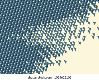 Abstract vector background. Monochrome  composition of overlapping triangular elements.