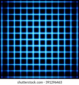 Abstract vector background. Neon glowing grid design.