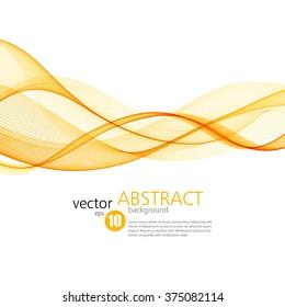 Abstract vector background, orange waved lines for brochure, website, flyer design.  illustration eps10