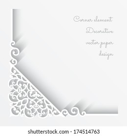 Abstract vector background with paper corner ornament, eps10