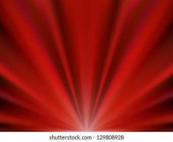 Abstract vector background of red rays, vector illustration