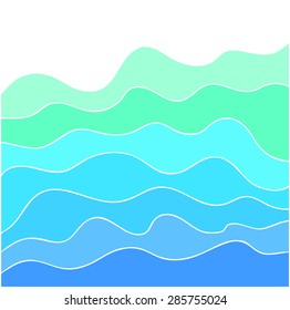 Abstract vector background. Sea waves. Backgrounds & textures shop.