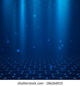Abstract vector background. Space with depth.