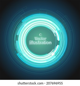 Abstract vector background with space for text. Circular patterns. Can be used in web and computer design, cards and banners, business brochure