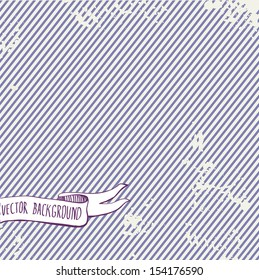 Abstract vector background with strip. Diagonal lines pattern. Repeat straight stripes texture