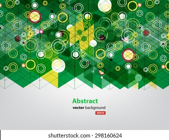 abstract vector background of triangle and circle technology concept