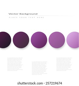 Abstract vector background with volume color circles