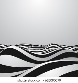 Abstract vector background of waves.