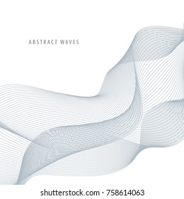 Abstract vector background with wavy lines