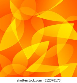 Abstract vector background. Yellow and orange overlapping shapes.
