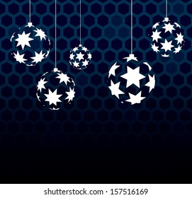 Abstract vector balls with stars