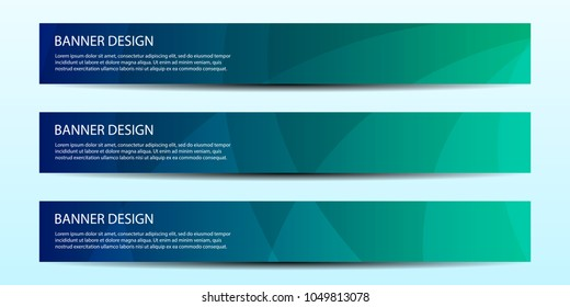 Abstract vector banners with bright geometric background / annual report / design templates / future Poster template design