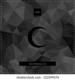 Abstract vector black polygonal background.