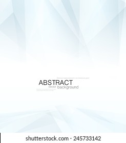 Abstract vector blue shapes with gradient on a white background