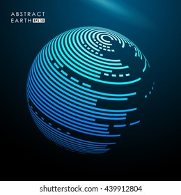 Abstract vector blue spheres. Futuristic technology style.