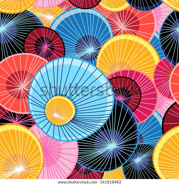 Abstract vector bright interesting graphic pattern with different elements