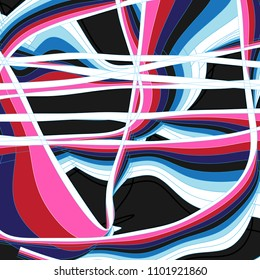 Abstract vector bright poster with geometric shapes