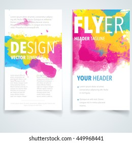 Abstract vector brochure logo template. Flyer layout design elements.