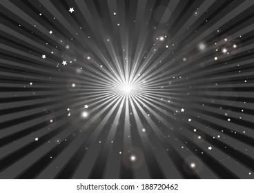 Abstract vector burst background illustration - Circular burst  in space illustration template