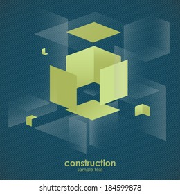 Abstract vector business background design construction