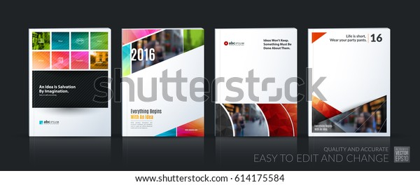 Abstract vector business template. Brochure layout, cover modern design annual report, poster, A4 flyer with red squares, triangles, diagonal geometric shapes, lines with texture background.