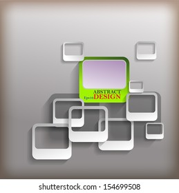 Abstract vector card design with shiny color in gray background.