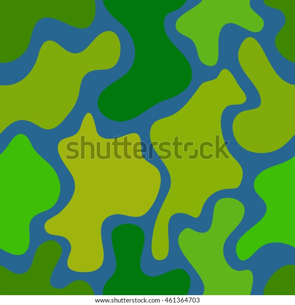 abstract vector chaotic spotted seamless pattern